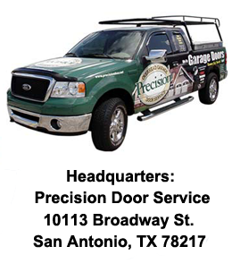 Contact precision garage door of san antonio for Garage door services schertz tx